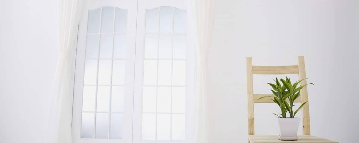 Clean white curtains