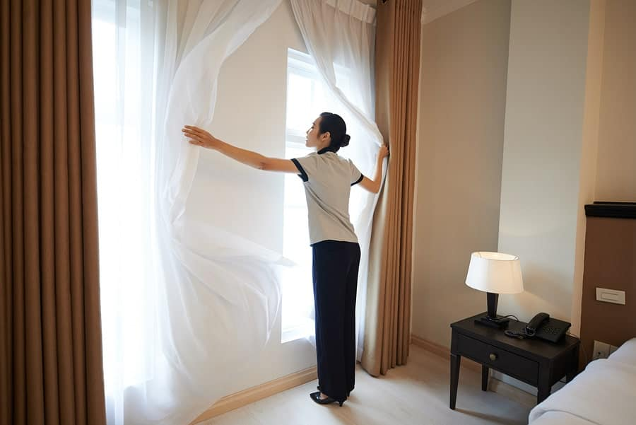 curtain dry cleaning singapore attendant